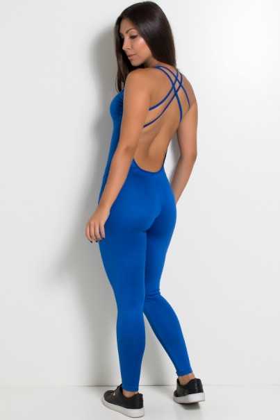 Macacão Fitness Suelene (Azul Royal) | Ref: KS-F571-002