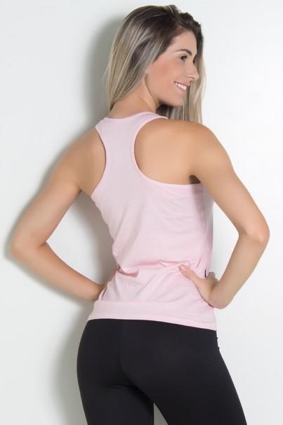 Camiseta de Malha Nadador (Love Fitness) (Rosa) | Ref: KS-F576-004