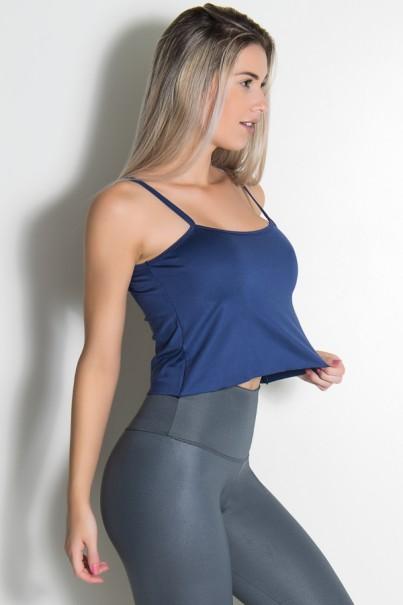 Camiseta Simone Lisa (Azul Marinho)   Ref: KS-F623-002