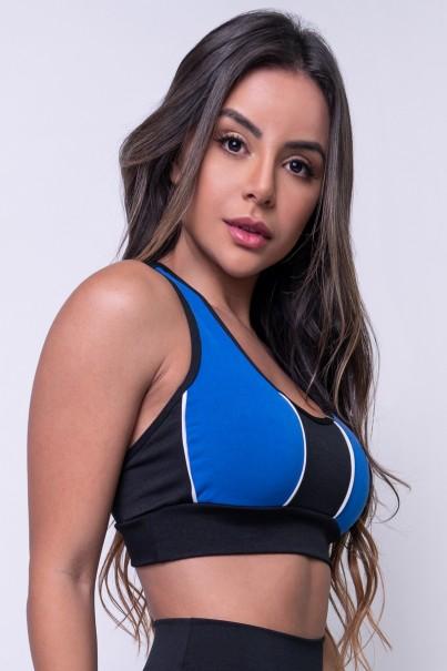 Top 2 Cores com Vivo (Preto - Azul Royal / Branco) | Ref: KS-F647-002