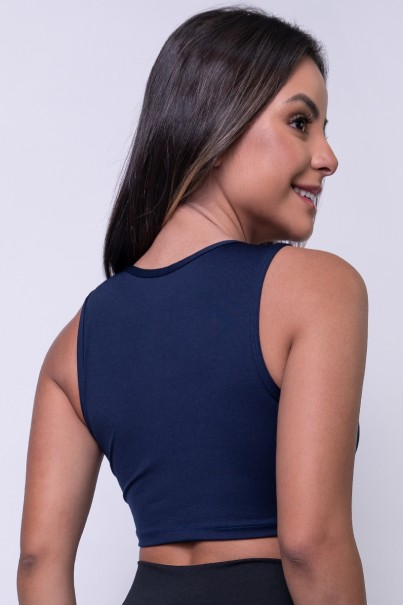 Top Tatiana (Azul Marinho)   Ref: KS-F658-003