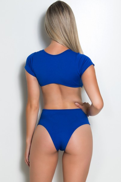 Body com Manga e Decote (Azul Royal) | Ref: KS-F661-004