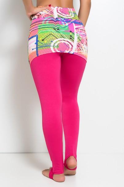 Calça Legging Lisa com Tapa Bumbum Estampado   Ref: KS-F79
