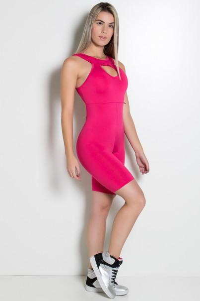 Macaquinho Fitness Andreza (Rosa Pink) | Ref: KS-F88-002