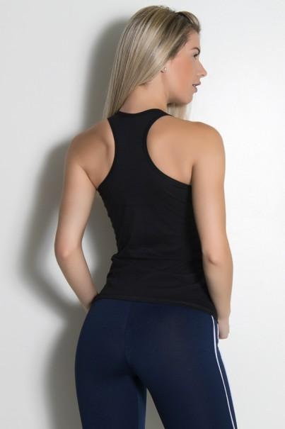 Camiseta de Malha Nadador (Show Your Body Some Love) (Preto) | Ref: KS-F904-001
