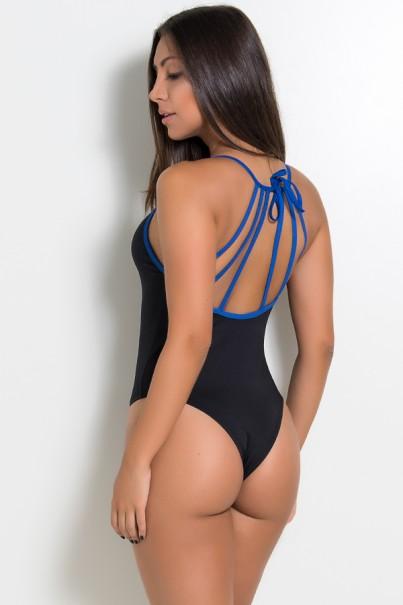 Body com Tiras de Amarrar (Azul Royal) | Ref: KS-F963-002