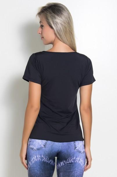 Camisa Paloma Microlight Contém Whey Protein (Preto)   Ref: KS-F429-001