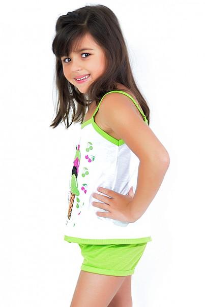 Babydoll Infantil 035 (Verde) | Ref: CEZ-PA035-001