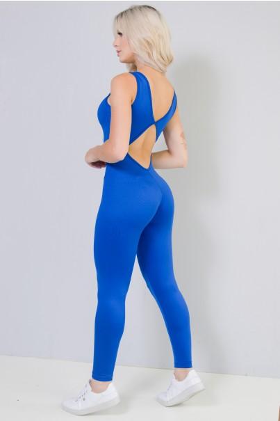 Macacão Longo Fitness Costa Aberta Jú (Azul Royal) | Ref: KS-F26-002