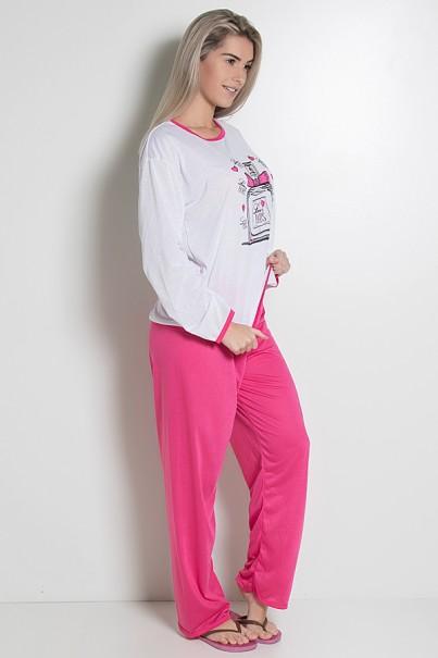 Pijama Feminino Longo 074 (Pink) AB