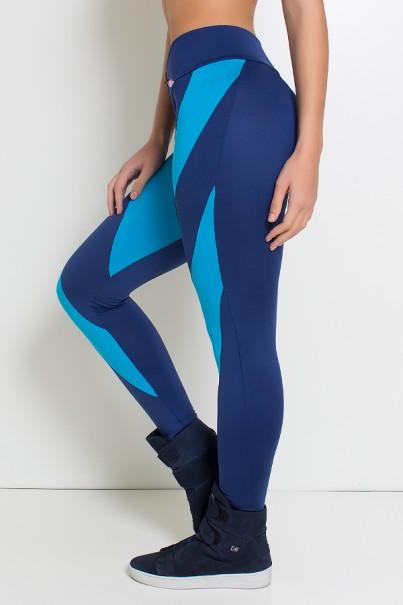 Calça Duas Cores (Azul Marinho / Azul Celeste)   Ref: KS-F946-002