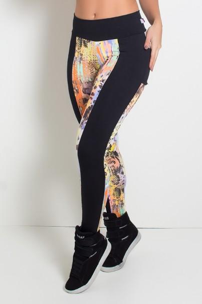 Calça Estampada com Bolso Traseiro Liso | Ref: KS-F695