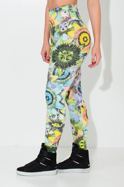 Legging Estampada Girassol Colorido | Ref: KS-F27-043