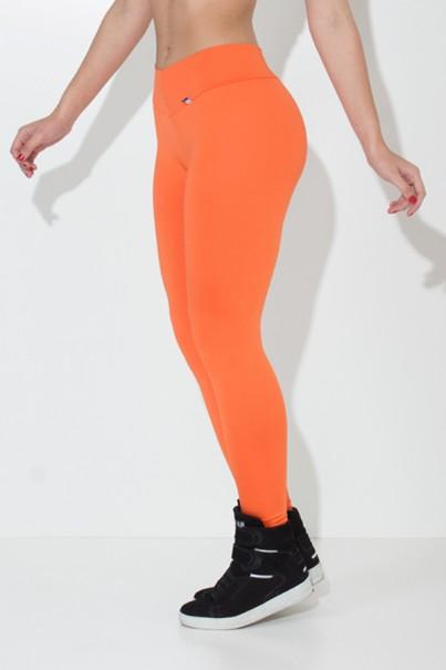Calça Amanda com Cós em V (Laranja) | Ref: KS-F712-003