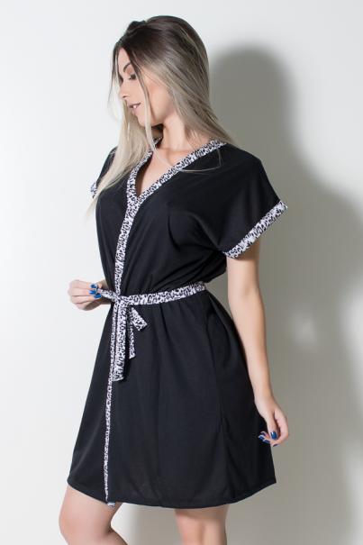 Robe de Malha (Preto) | Ref: CEZ-PA183-002