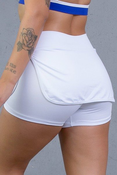 Short Saia Carla Liso (Branco) | Ref: KS-F174-001