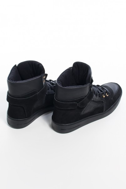 Sneaker Unissex Preto com Sola Preta | Ref: KS-T36-002