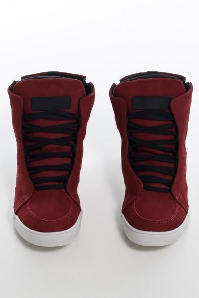 Sneaker Nobuck com Fecho (Vinho) | Ref: KS-T53-001