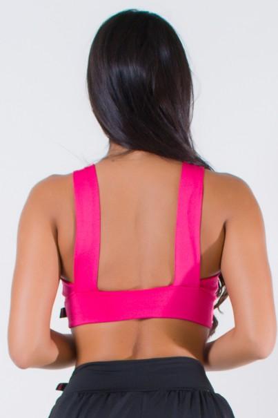 Top Liso com Duas Tiras nas Costas (Rosa Pink) | Ref: KS-F921-002