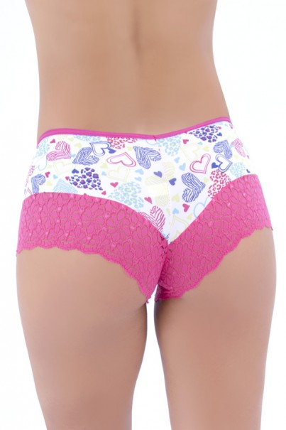 Short Calesson Estampado com Renda