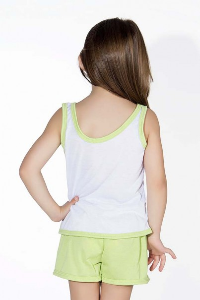Babydoll Infantil 056 (Verde com corujinhas) AB