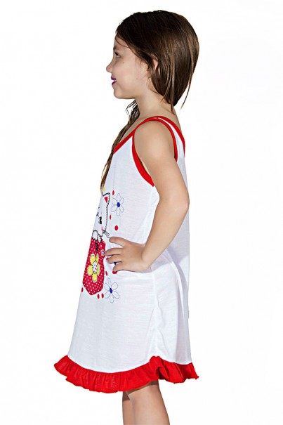 Camisola Infantil 060 (Vermelha com gatinho)