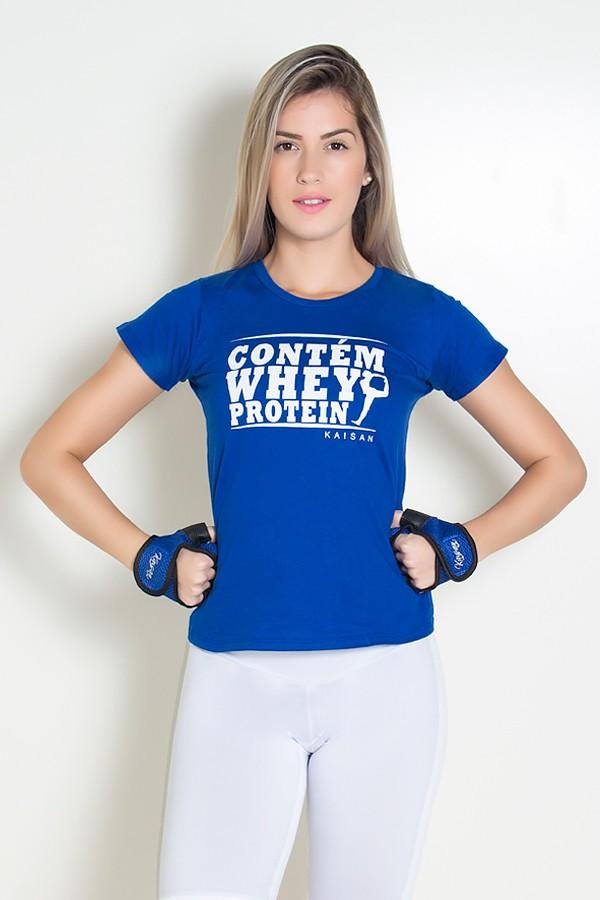 f2e48ed462 Camiseta Feminina Contém Whey Protein