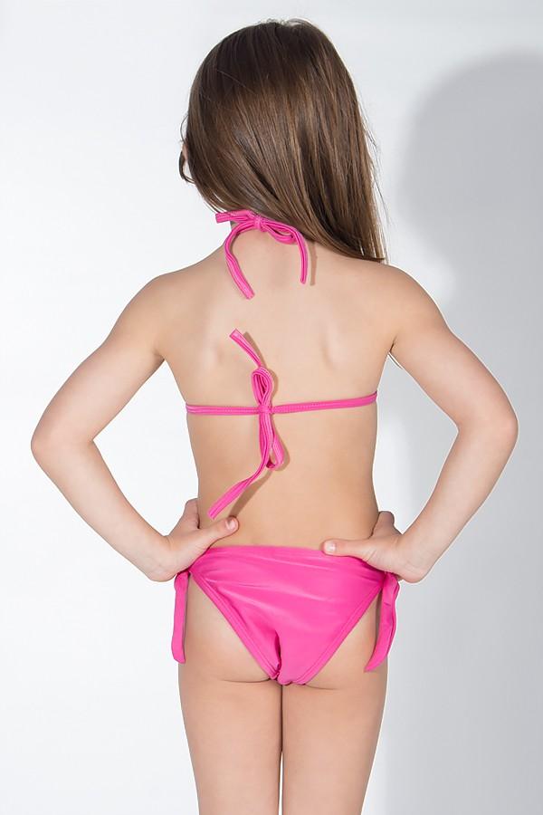 ae6366fe4d3ca ... Biquini Infantil com Bojo Calcinha Lisa (Amarelo com Melancia   Rosa  Pink)