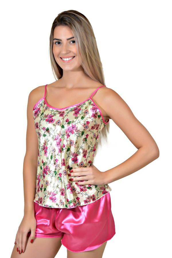 016018403 Babydoll Feminino 001 (Pink estampado) | Kaisan