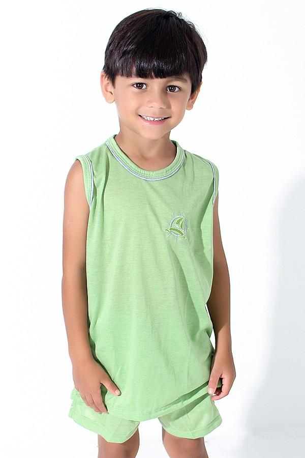 74748e044 Pijama infantil Mas. Regata 142 (Verde Claro)