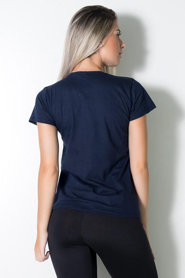 69ba1de6e7 ... Camiseta Feminina Show Your Body Some Love (Azul Marinho)