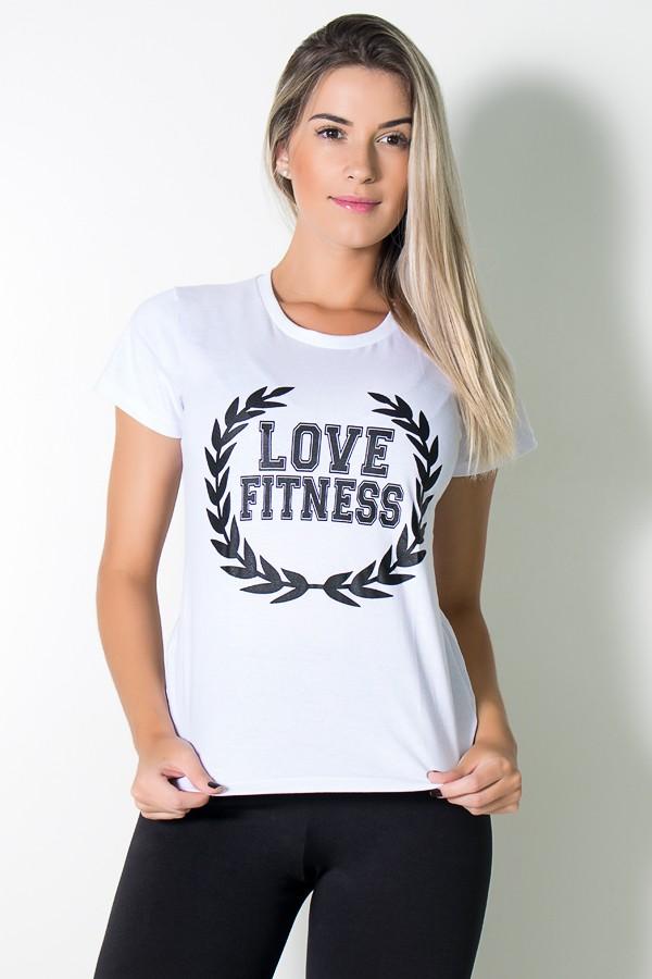 4f50990001 Camiseta Feminina Love Fitness (Branco)