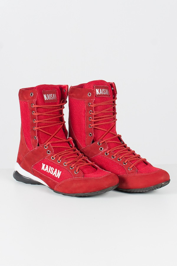 d1c70271e5 Bota Fitness Cano Alto (Vermelho) | Ref: KS-T29 ...