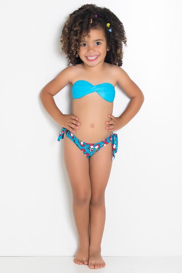 09131de99 Biquini Infantil (Azul Celeste   Ratinhos Vermelhos)