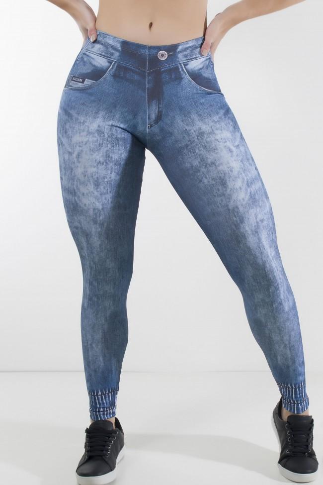 0c1e21e8fdb22 Legging Jeans Sublimada com Detalhe na Perna | Ref: KS-F1230-001 ...