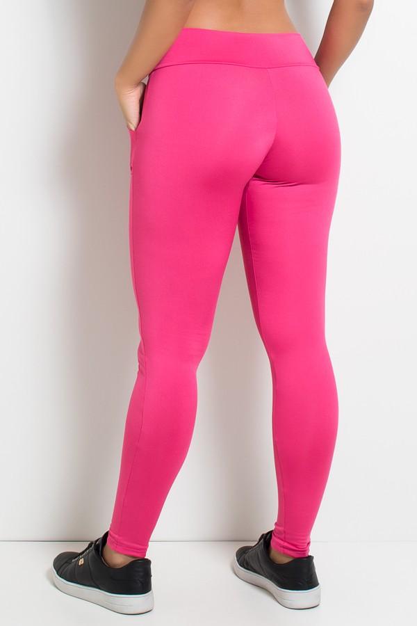 ffb516f01 Calça Legging Lisa com Bolso (Rosa Pink)