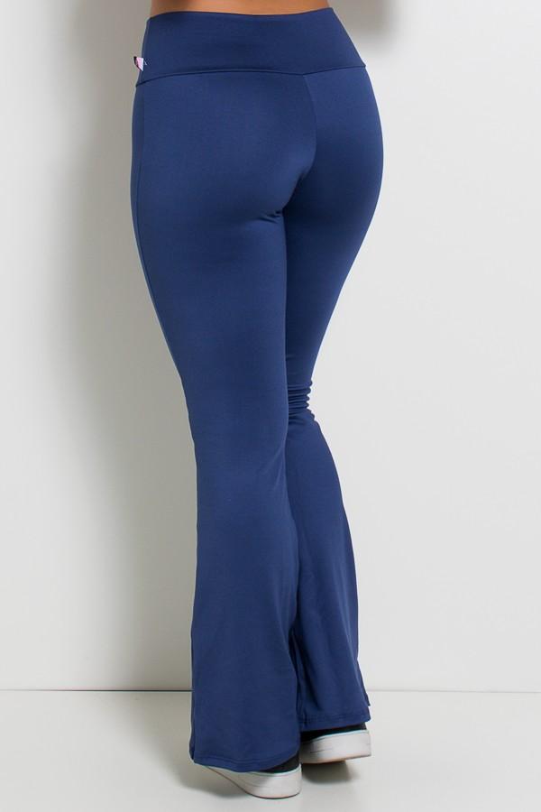 d7943b3633 ... Calça Feminina Flare Boca de Sino (Azul Marinho)