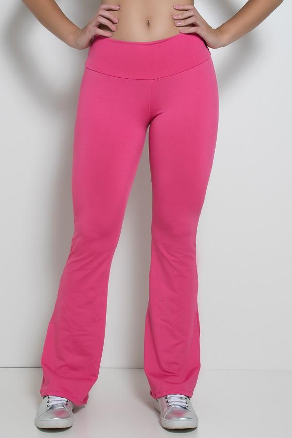 ce24b08cd0 Calça Feminina Flare Boca de Sino (Rosa Pink)