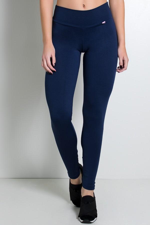 af49d18b8 Calça Legging Lisa com Fecho na Perna (Azul Marinho)