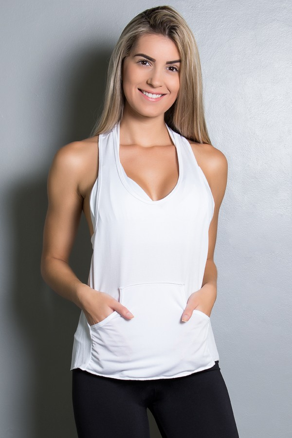 a65c1c504370e Camiseta Dry Fit com Bolso Marissol (Branco)