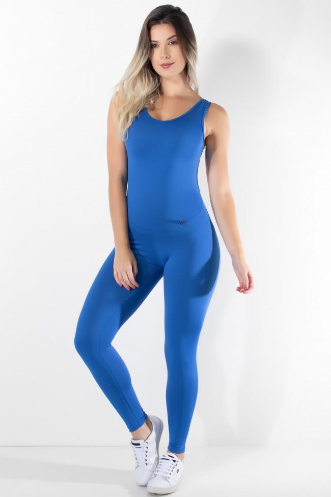 fcd219ceaf1b15 Macacão Fitness Carol Cores Lisas (Azul Royal)   Kaisan