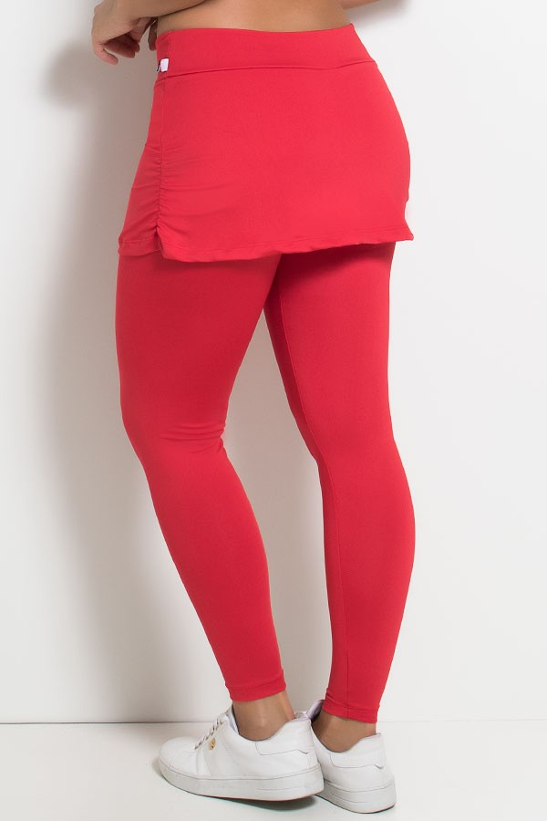 3f78ebe6b Calça Legging Lisa com Saia Franzida
