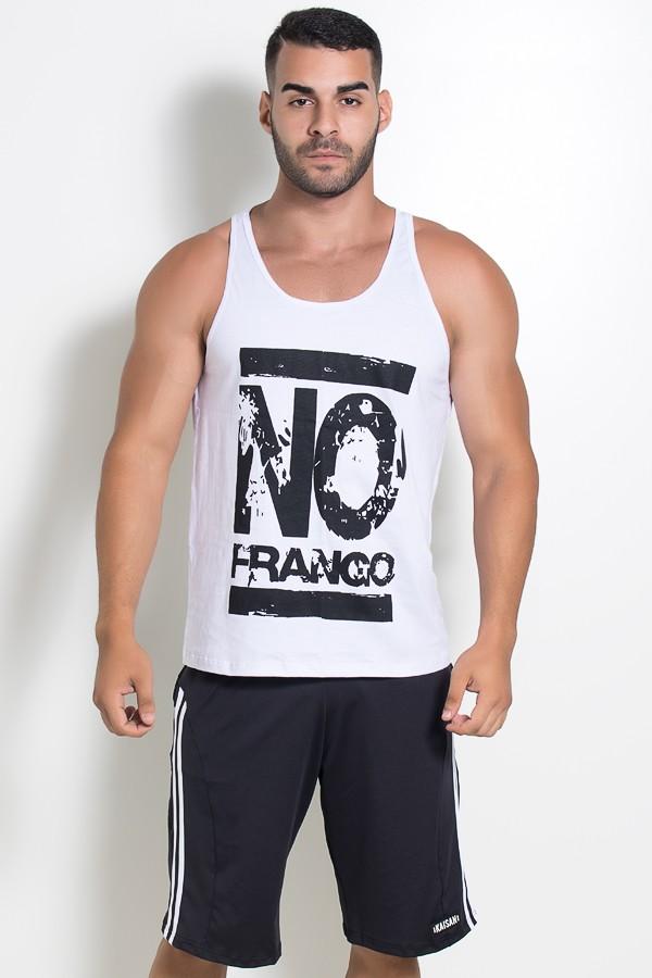 Camiseta Regata (No Frango) (Branco)  8a029567ad1