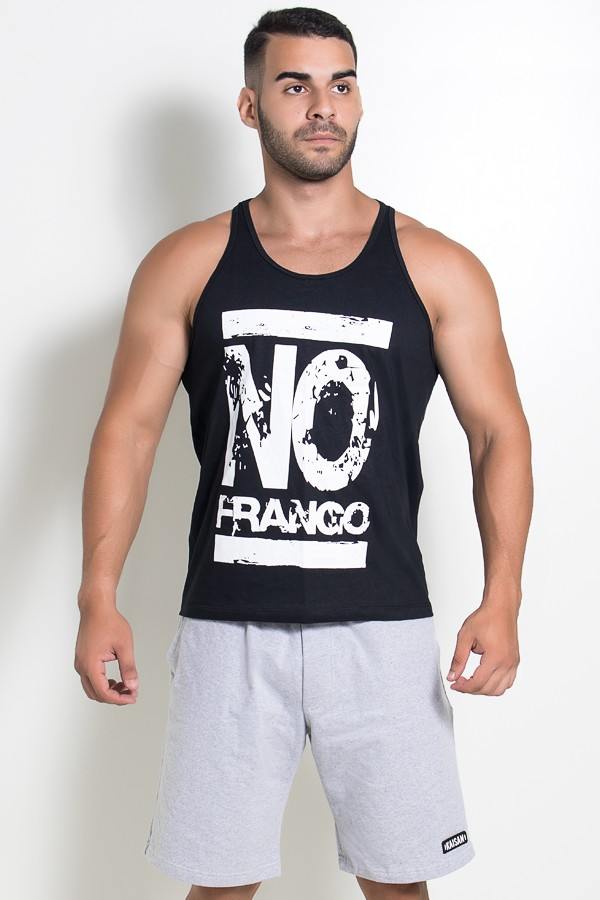 be56be01eb Camiseta Regata (No Frango) (Preto)