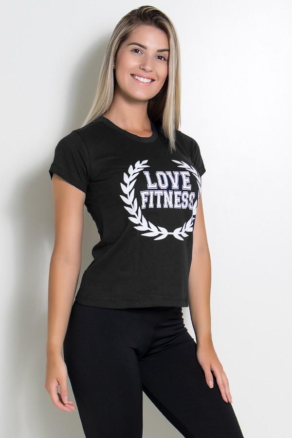 902f4a4bc6 ... Camiseta Feminina Love Fitness (Preto)