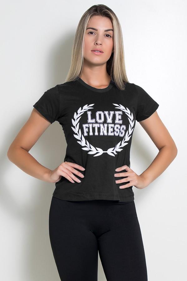 9593a20503 Camiseta Feminina Love Fitness (Preto)