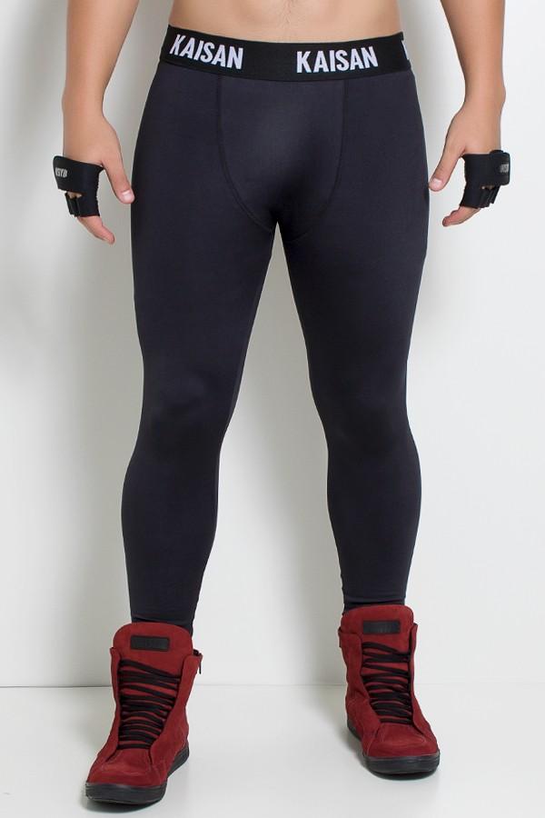 Calça Legging Masculina com Cós de Elástico (Preto)  61908e2e04f80
