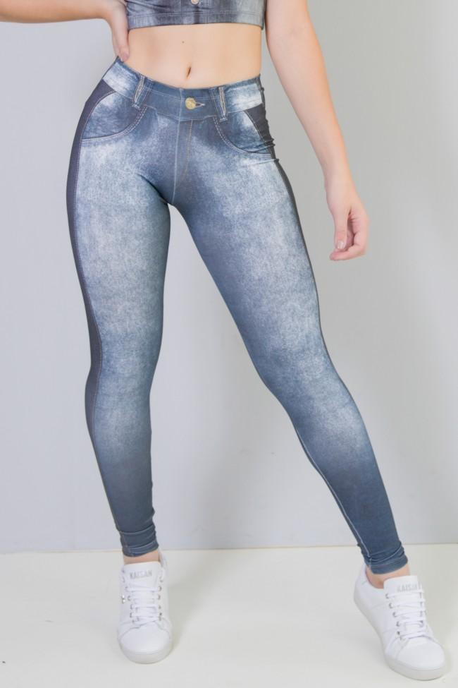 1c287fe81 Legging Sublimada (Jeans Couro) | Ref: NTSP29-001 ...