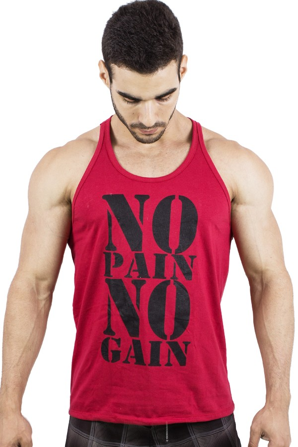 ad83fa6ff Camiseta Regata (No Pain No Gain)
