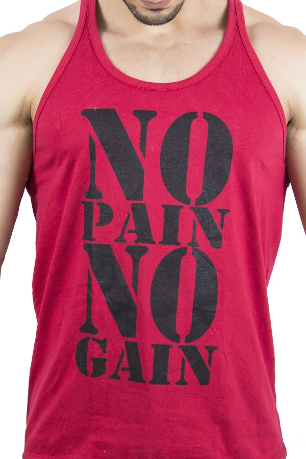 f63fa97f9 ... Camiseta Regata (No Pain No Gain)